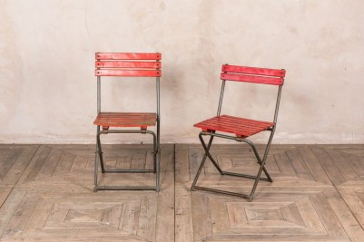 vintage slatted chairs
