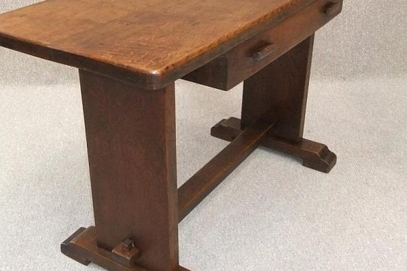 Solid Oak Arts and Crafts Console Table