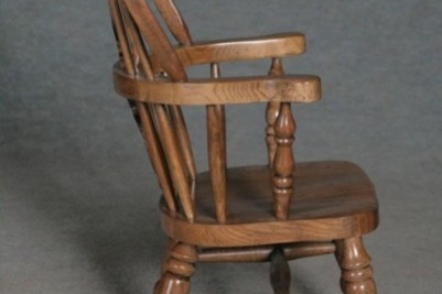 solid oak childs windsor rocking chair