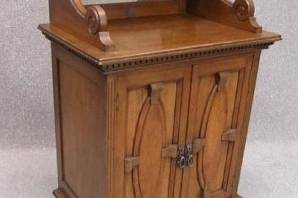 Edwardian Music Cabinet in Solid Oak