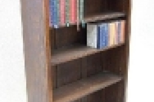 Large Solid Oak Freestanding Bookcase