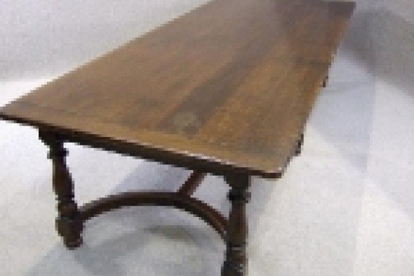 Solid Oak Victorian Refectory Table