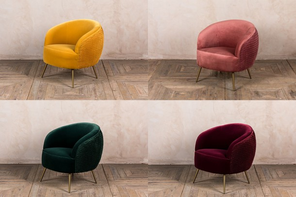 Sorrento Velvet Occasional Tub Chairs