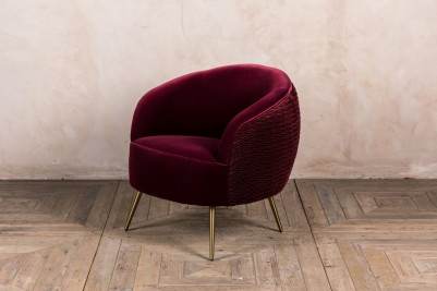wine red tub chair