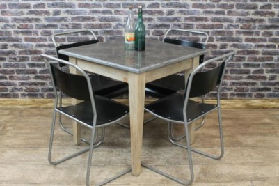 industrial style stone top tables