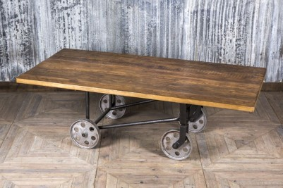industrial trolley dining table