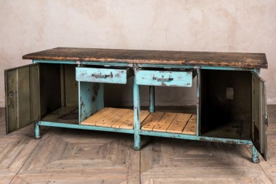 blue metal buffet