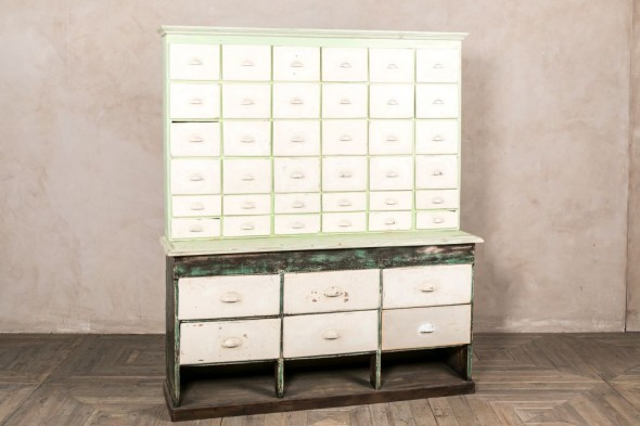 Vintage Storage Cabinet with Drawers