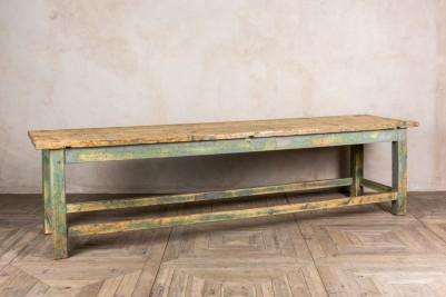 industrial green dining table