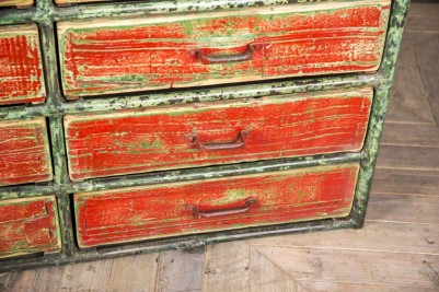 distressed painted buffet