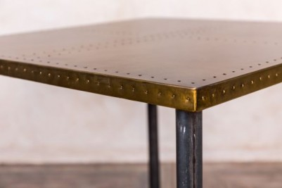 industrial style brass top table