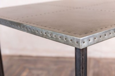 pipework table with zinc top