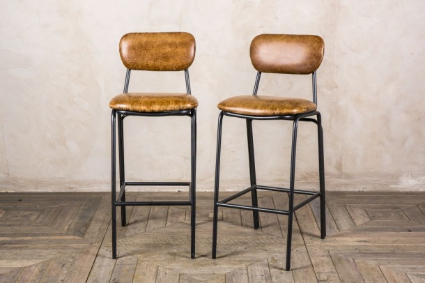 Strand Leather Bar Stools