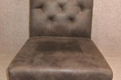 upright leather chair