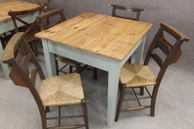 painted pine cafe table