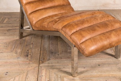 full leather contemporary chaise longue