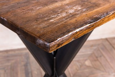 bar table with antique finish top