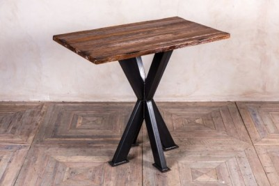 large antique finish poseur table