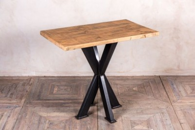 large pine top poseur table
