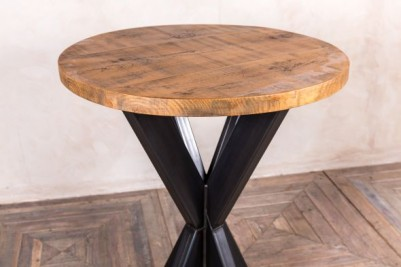 round pine top bar table