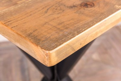 square pine top bar table