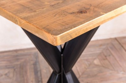 tank trap poseur table with pine top