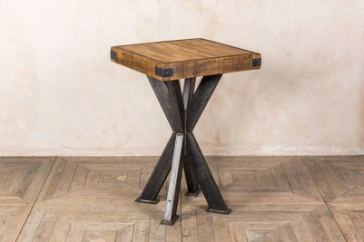bar height table with butchers block top