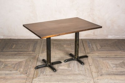 large copper cafe table