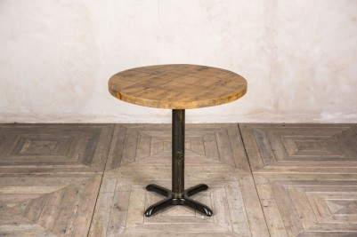 round pine bistro table