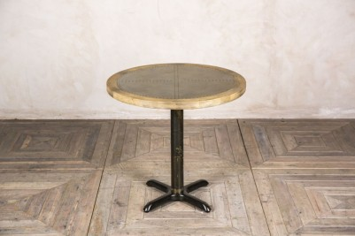 round zinc pedestal table