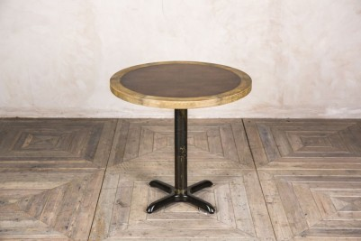 small round copper table
