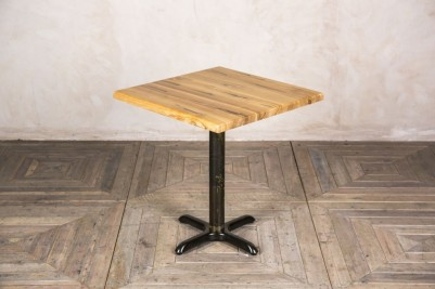 square pronged pedestal table