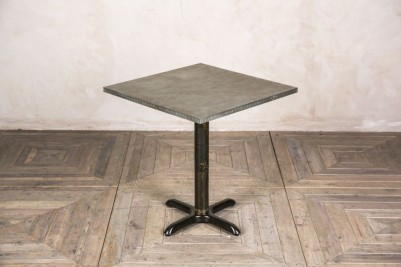 zinc top pedestal table