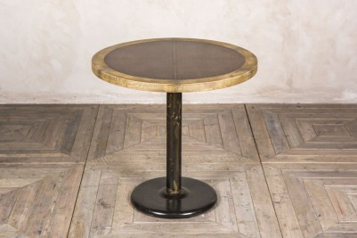 round copper pedestal table