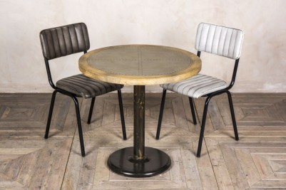 round zinc cafe table