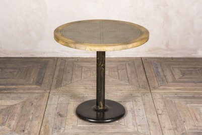 round zinc top pedestal table