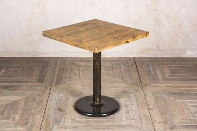 square pine pedestal table