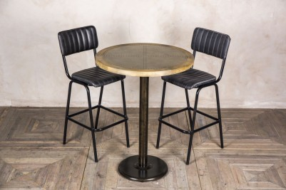 round zinc bar table