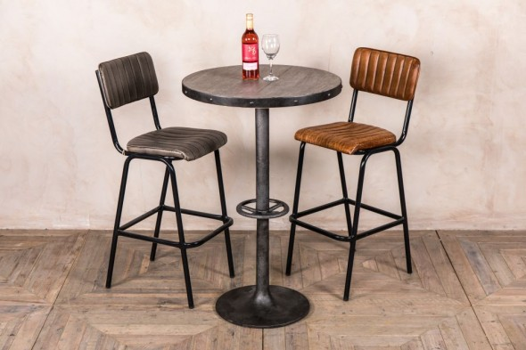 Round Metal Bar Table - 70cm
