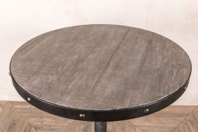 round metal poseur table