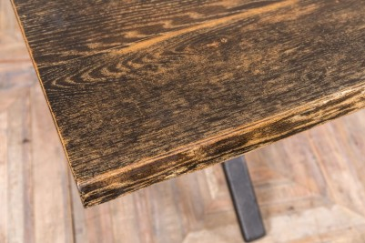 industrial inspired dining table