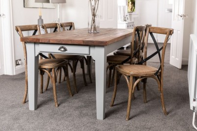 country style wooden table
