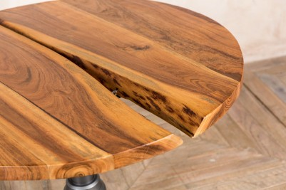 distressed wooden top