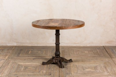 bistro table with metal base
