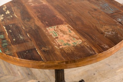industrial table with reclaimed top