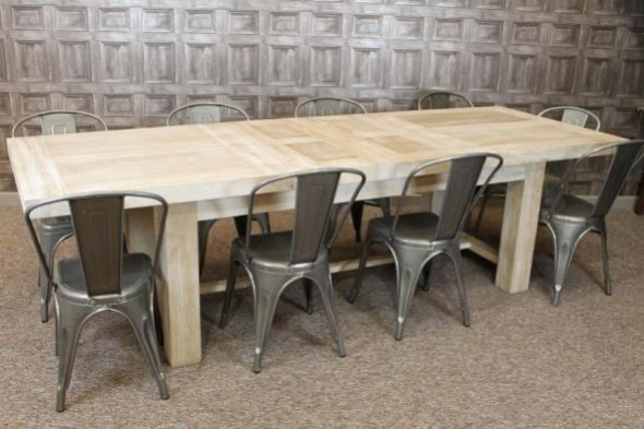Disc - H' Framed Limed Oak Table - Thorpe