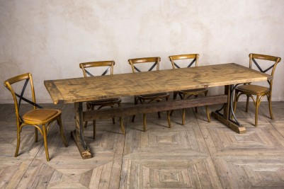 handmade pine dining table