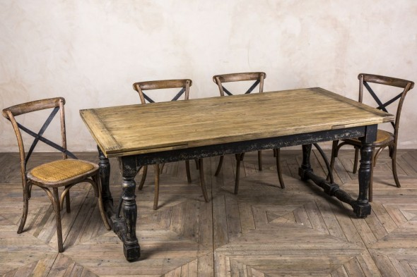 Madrid Rustic Oak Extending Table - 200cm-300cm