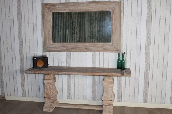 Disc - Limed Elm Console Table - 2m