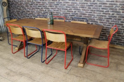 industrial style trestle table